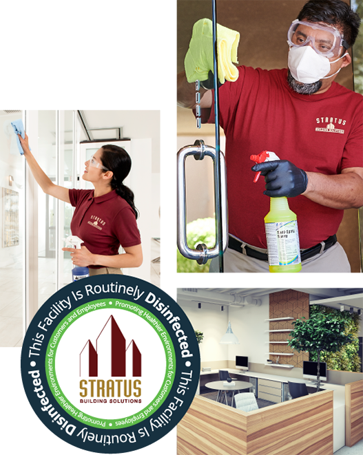 commercial cleaning services worker